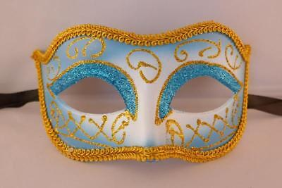 BLUE MASQUERADE MASKS PROM STAG HEN NEW YEARS EVE FANCY DRESS PARTY - Masquerade New Years Eve Party