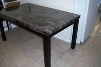 Black Faux Marble Dining Room Table