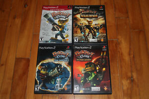 4 jeux Ratchet and Clank - PS2