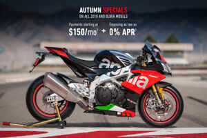 2018 APRILIA RSV4 FALL SALE 0% FINANCING SAVE UP TO $3000