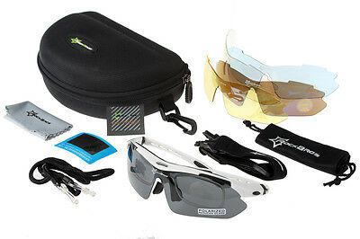 RockBros Cycling Polarized Glasses Running Goggles Outdoor White (Running Goggles)