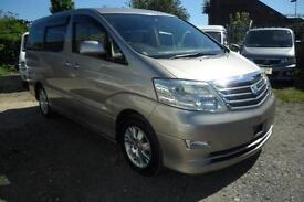 TOTOYA ALPHARD, 2006, AUTOMATIC, 75K MILES, 2.4 PETROL IN GOLD