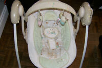 Free baby rocker and tub - $30 baby beddings - $30 baby swing