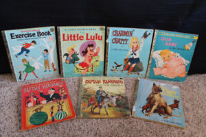 """Little Golden Books – First Print Editions marked """"A"""", Set of 7"""