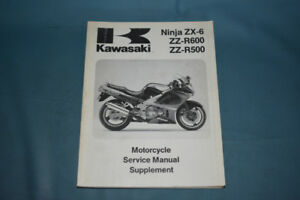 1993-94 Kawasaki Ninja ZX-6 Service Shop Manual Supplement