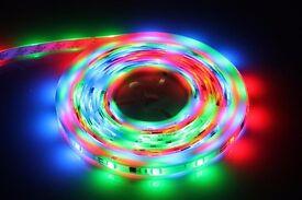5M 12V/24V Single Colour/RGB Colour Changing 5050SMD LED Tape Strip Lights + Remote Control + Power