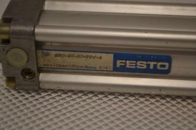 ONE USED FESTO PNEUMATIC CYLINDER DNU-40-80-PPV-A.