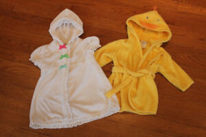 Hooded Baby Towel Robes 0-12m