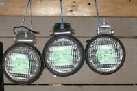 Round Tractor Work Lights In Rubber Mounts