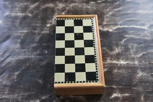 Wood magnetic checker & chess board