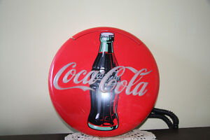 WALL HANGING 1995 COCA COLA BRAND PHONE- LONGWOOD INDUSTRIES