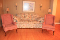 Two wing chairs and a sofa
