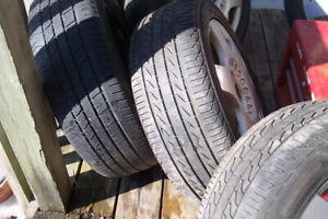 205x55x16 tires  rims  bolts 5x100