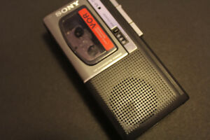 SONY micro Cassette Player RETRO electronics 1988 Collectible