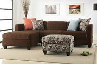 NEW! Dark Chocolate Condo Sized Sectional, FREE DELIVERY