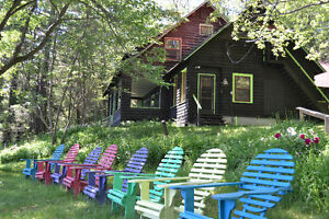 Large Rustic Waterfront Cottage for rent July 8-15!