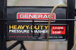 Generac Heavy Duty Pressure Washer 2400 PSI