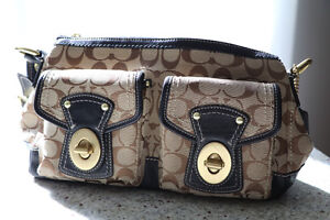 Coach Purse For Sale- Brown and Gold