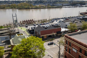 RIVERFRONT CONDO: 2-bdrm (could be 3) + TWO parking stalls
