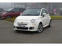 2014 FIAT 500 Fiat 500C 1.3 MultiJet [95] S 2dr [Leather + Italy Stripe]