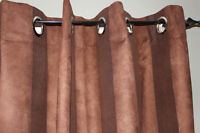 Brown striped curtains