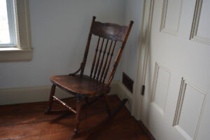 Old fashioned rocking chair