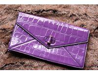GENUINE Alexander Mcqueen Clutch Bag in purple- 100% Authentic