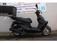 2008 YAMAHA XC 125 CYGNUS BLACK NOW ONLY £1150! RIDE AWAY TODAY!