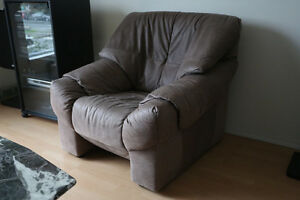 Free:  Suede leather couches - brown set and pink set (Vancouver