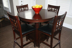 Pub Style Dinette Table and 4 Chairs