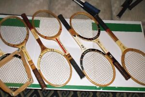 VINTAGE SIGNATURE - WOOD AND METAL TENNIS RACKETS FOR COLLECTORS