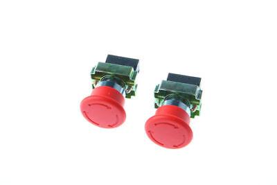 2pcs Xb2-bs542 1nc Emergency Stop Push-button Switch Red Mushroom Us Stock