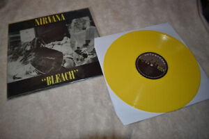 Extremely Rare Nirvana Bleach Album! Yellow Vinyl Record! *Mint*