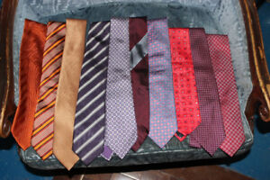 10 Very  High Fashion Ties -Selling as a lot. Hermes, Zegna,
