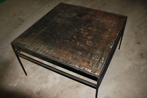 Solid Steel Coffee Table