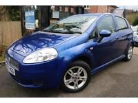 2008 Fiat Grande Punto 1.2 Active 5 Door Blue FSH Long MOT Finance Available