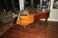 HALLET DAVIS superbe piano antique appartenant a la  fami
