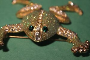 RHINESTONE FROG BROOCH  (VIEW OTHER ADS)