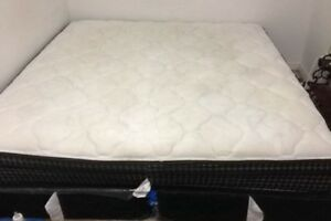 Kingsize mattress and box spring 3 months old