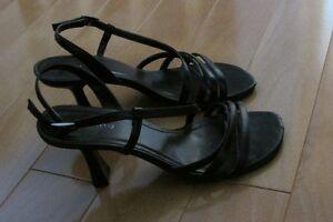 Spring black sandals