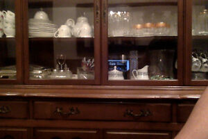 Teak wood Dinning Table with hutch and buffet