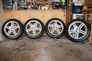 4 Michelin Pilot Sport A/S3 tires mounted on Audi rims