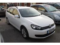 Stunning VW Golf Estate 2.0 TDI SE 140PS In Gleaming White This Car Looks Amazin