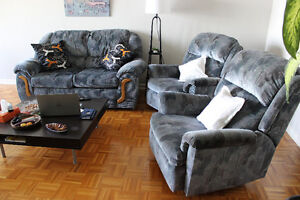 1 Sofa et 2 chaises inclinables