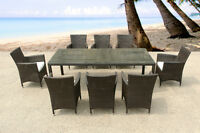 All-Weather Wicker Outdoor Dining Set for 8 - Patio Furniture