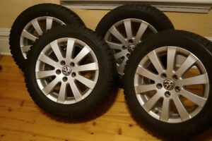 Snow tires and VW winter alloy rims