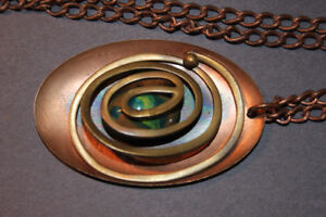 1970's Art Necklace Solid Copper (VIEW OTHER ADS)
