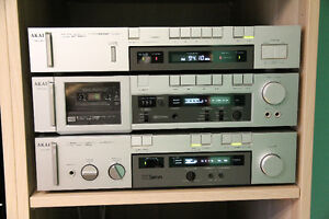 AKAI Stereo Amplifier, Cassette Deck, Tuner in A+ condition