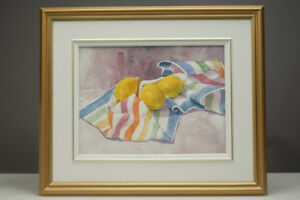 Original Artwork Nora Gross Watercolour Painting Junes' Lemons