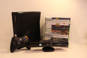 Xbox 360S 320GB + Kinect +17 jeux/games